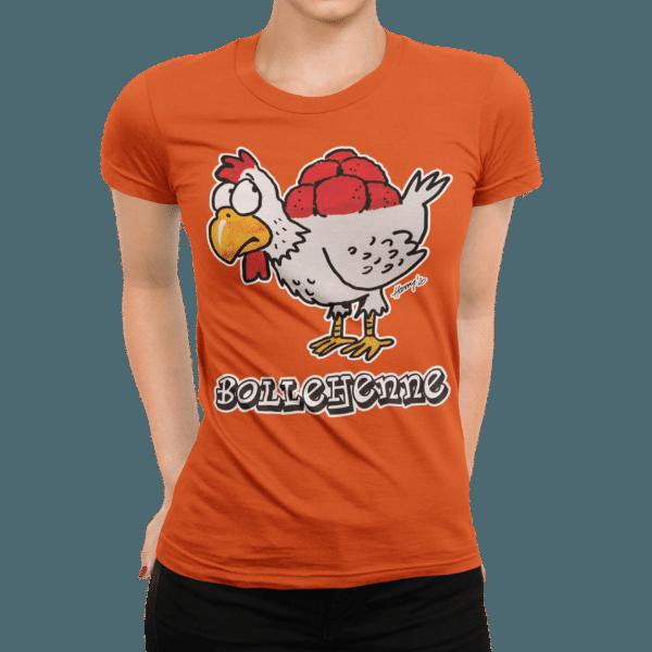schwarzwald frauen t-shirt - huhn mit bollenhut