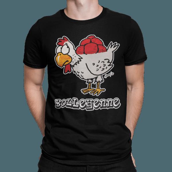 schwarzwald maenner t-shirt - huhn mit bollenhut