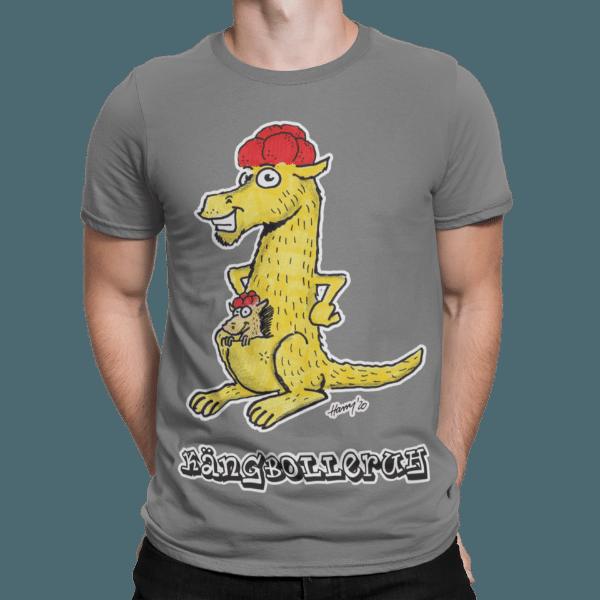 schwarzwald maenner t-shirt - kaenguru mit bollenhut