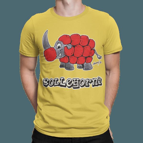 schwarzwald maenner t-shirt - nashorn mit bollenhut