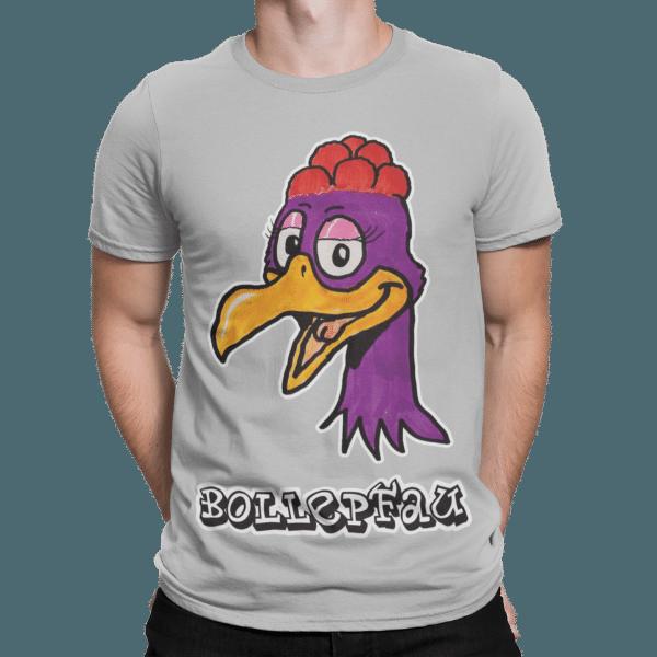 schwarzwald maenner t-shirt - pfau mit bollenhut