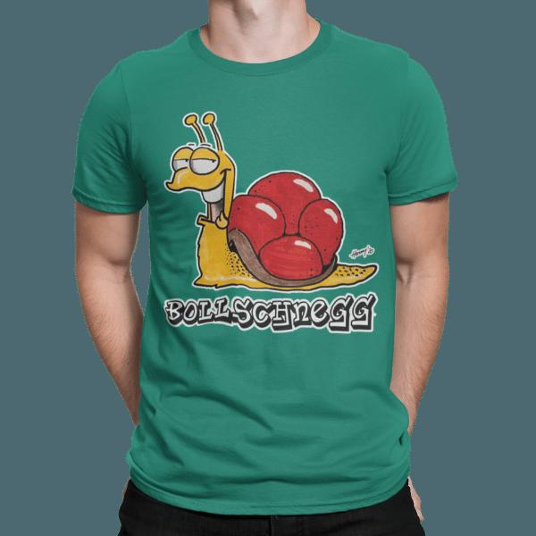 schwarzwald maenner t-shirt - schnecke mit bollenhut