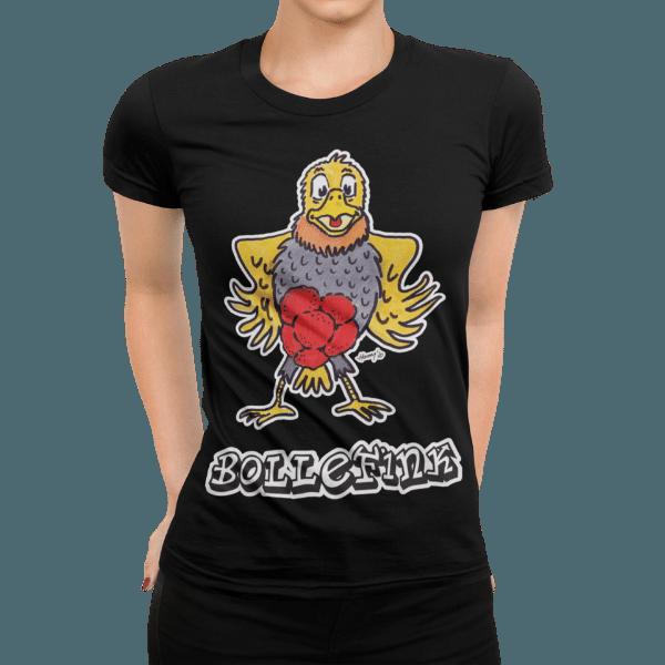 schwarzwald frauen t-shirt - vogel mit bollenhut