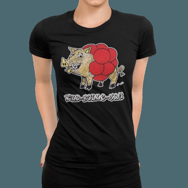 schwarzwald maenner t-shirt - wildschwein mit bollenhut