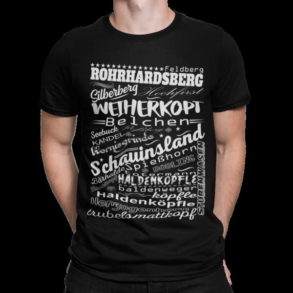 schwarzwald maenner t-shirt - berge im schwarzwald