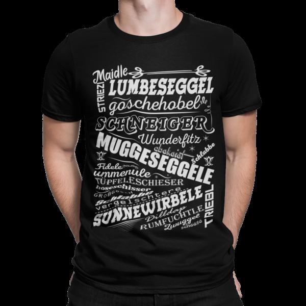 schwarzwald maenner t-shirt - mit den lustigsten alemannischen worten aus dem schwarzwald
