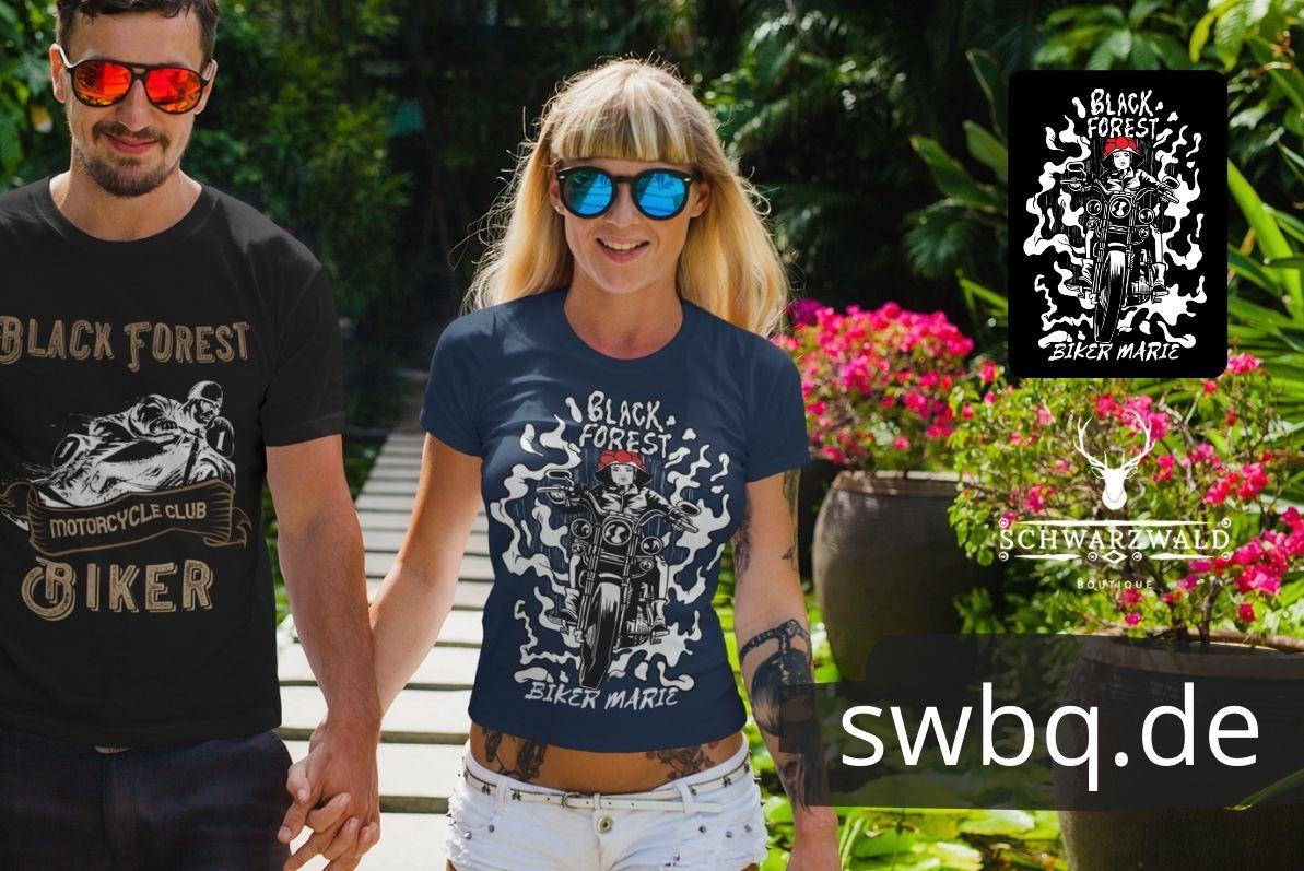 schwarzwald frauen t-shirt - motorrad bikerin
