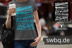 schwarzwald frauen t-shirt - orte im schwarzwald