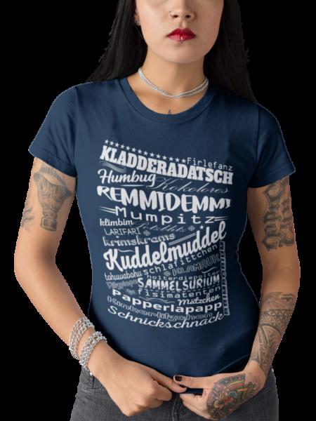 schwarzwald frauen t-shirt - mit den lustigsten alemannischen worten aus dem schwarzwald