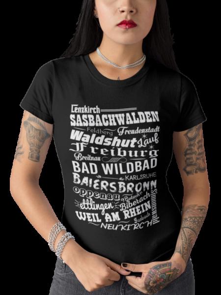 schwarzwald frauen t-shirt - urlaubsziele im schwarzwald