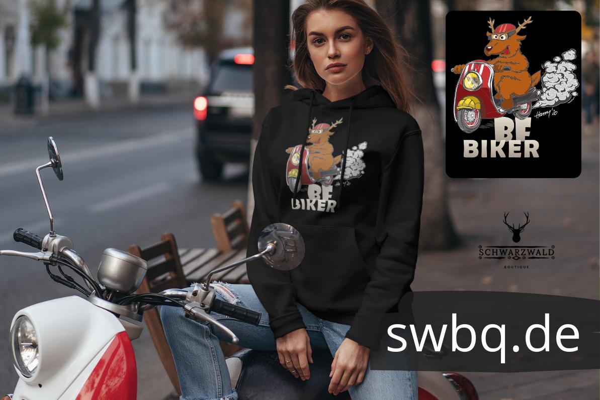 Lustiges Schwarzwald t-shirt - black forest biker
