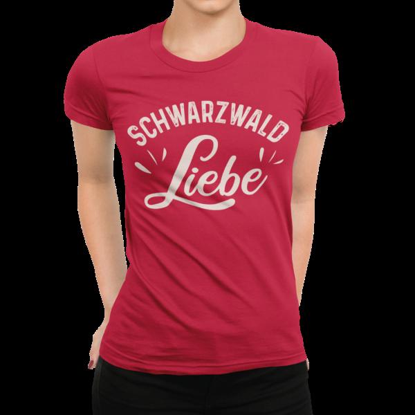 schwarzwald frauen t-shirt - schwarzwald liebe