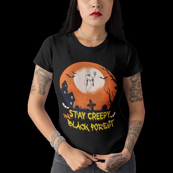 schwarzwald grusel t-shirt - lustiges schwarzwald halloween kostuem design