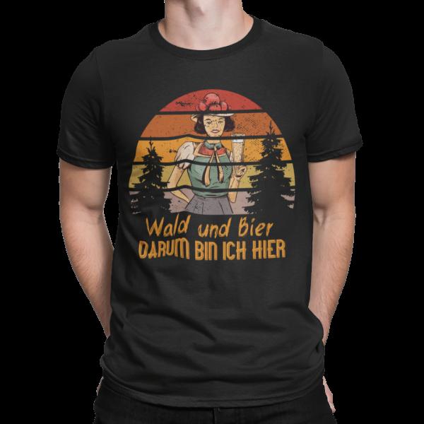 schwarzwald maenner t-shirt - wald und bier schwarzwaldmaidle