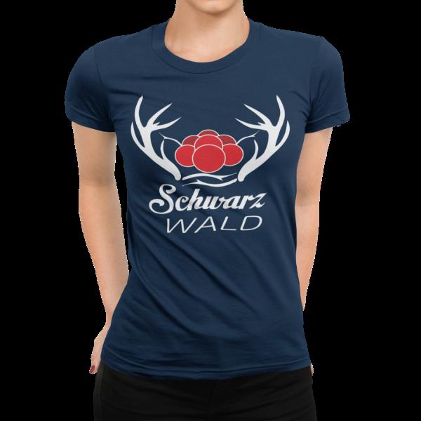 schwarzwald t-shirt - schwarzwald spirit-bollenhut und hirschgeweih