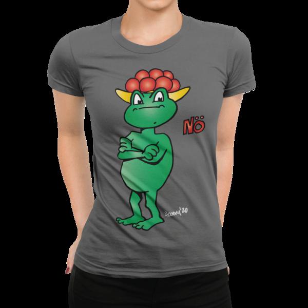 schwarzwald frauen t-shirt - statement frosch mit bollenhut