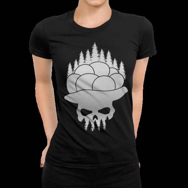 bollenhut auf totenkopf schwarzwald t-shirt motiv