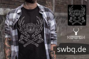 schwarzwald frauen t-shirt - schwarzwald lineart