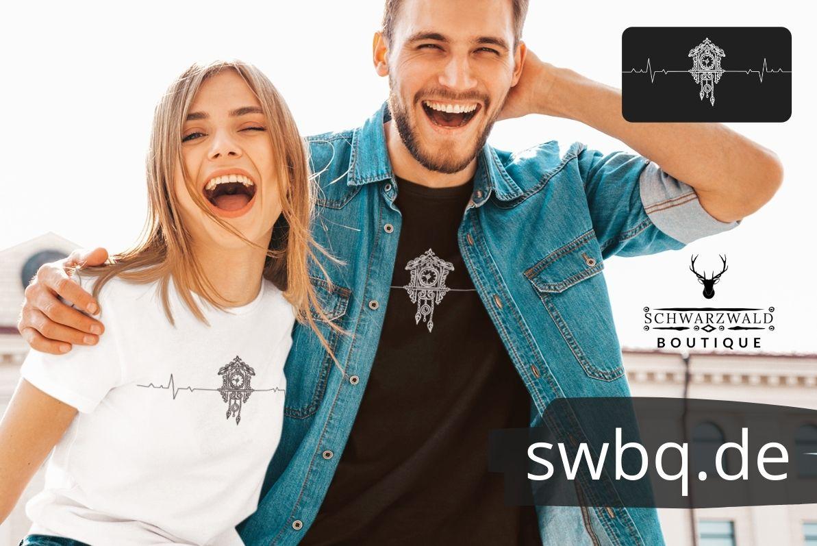 schwarzwald maenner und frauen t-shirt - kuckucksuhr schwarzwald
