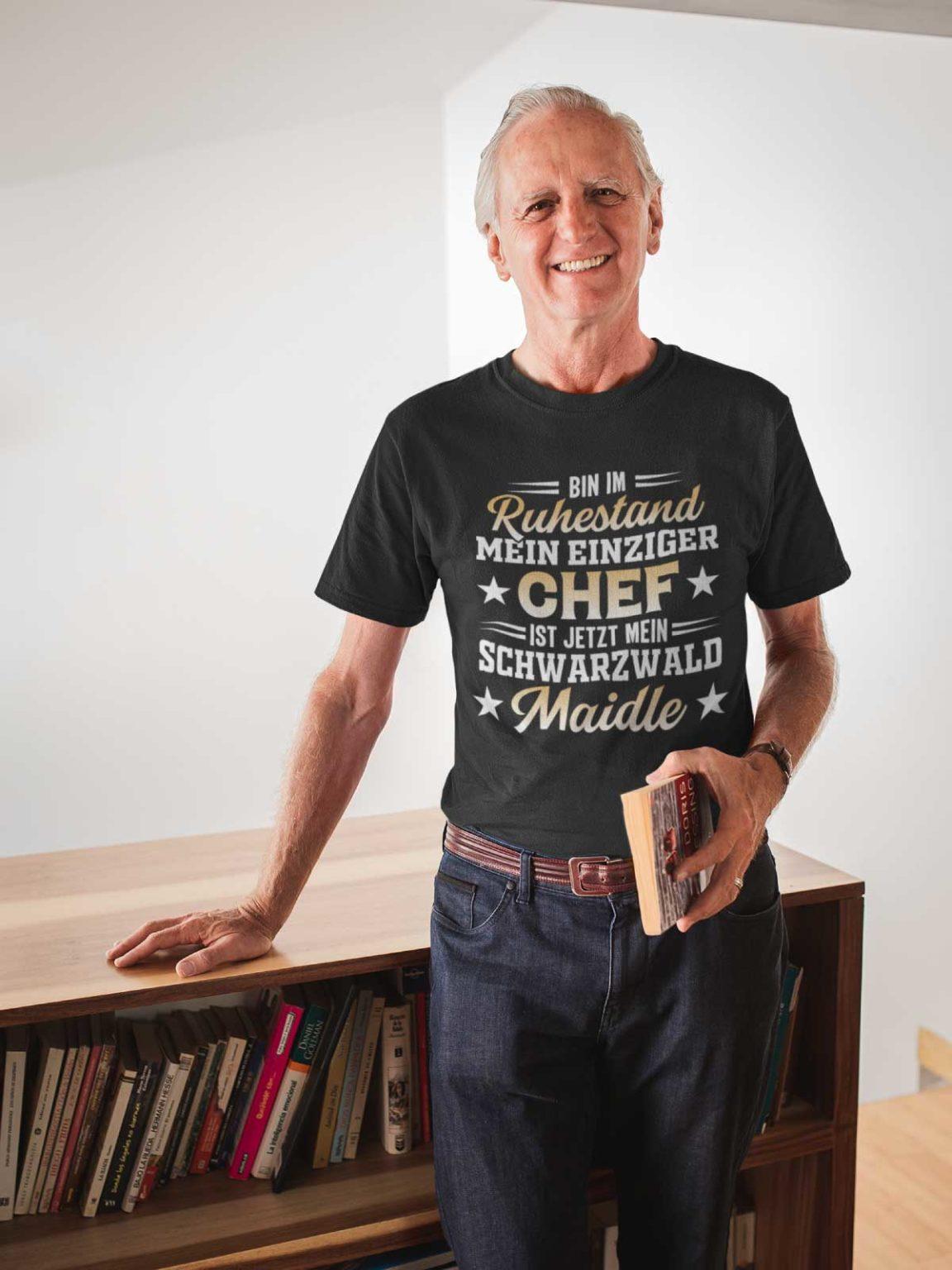 Schwarzwald Geschenke zur Rente T-Shirt Motiv
