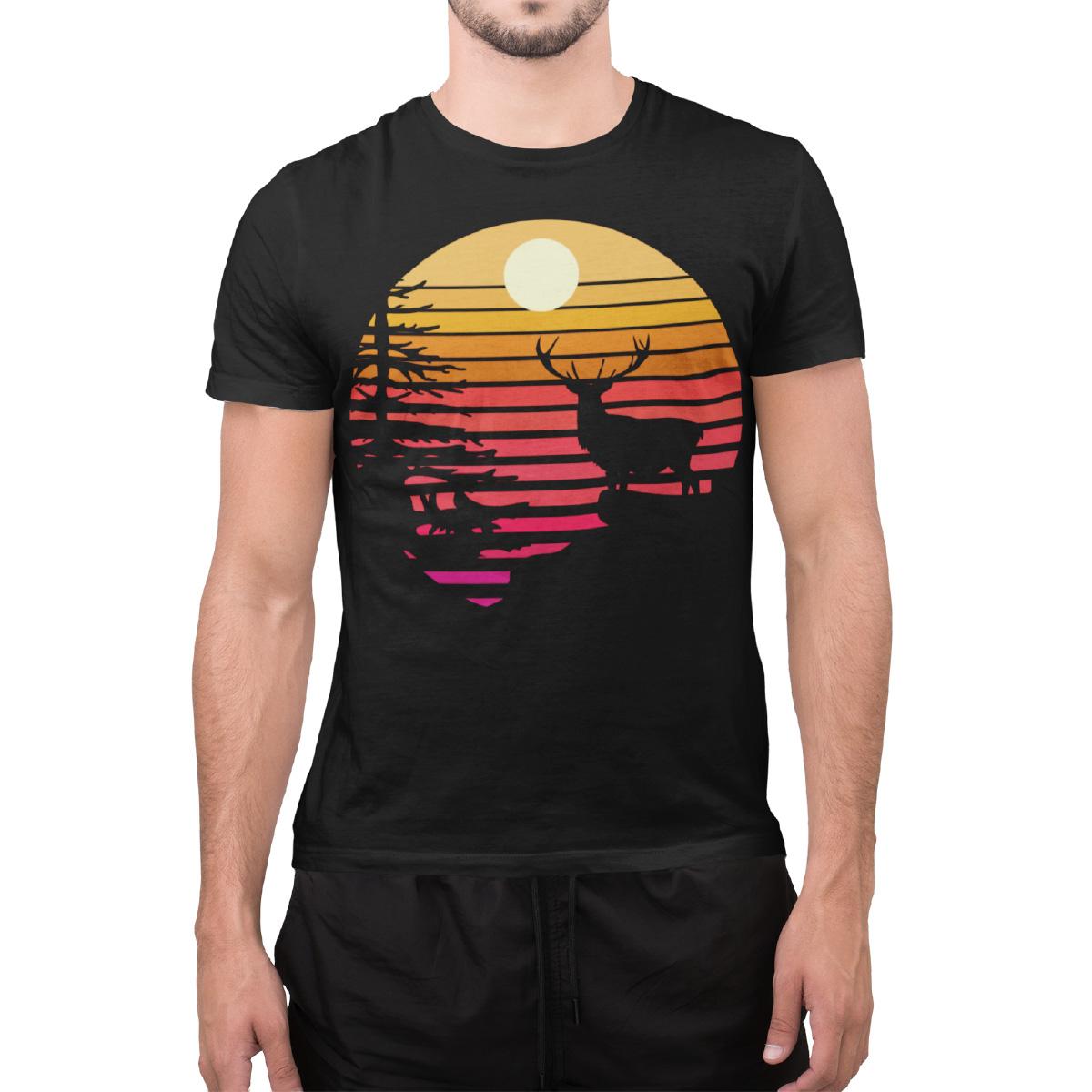 schwarzwald sonnenuntergang maenner t-shirt
