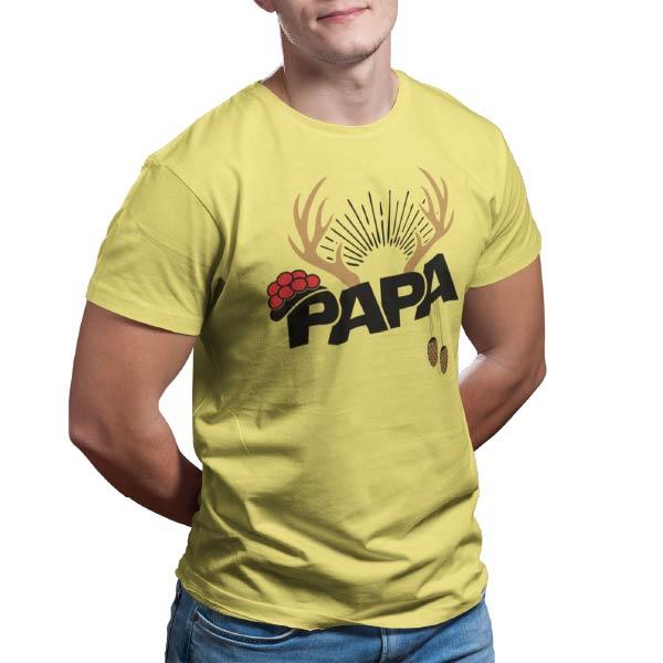 papa hirschgeweih bollenhut kuckucksuhr t-shirt