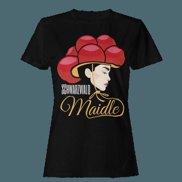 scharzes-frauen-tshirt-mit-schwarzwald-maidle-kristin-design-mit-neutralem-hintergrund