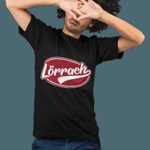 schwarzes maenner t-shirt mit dem aufdruck loerrach