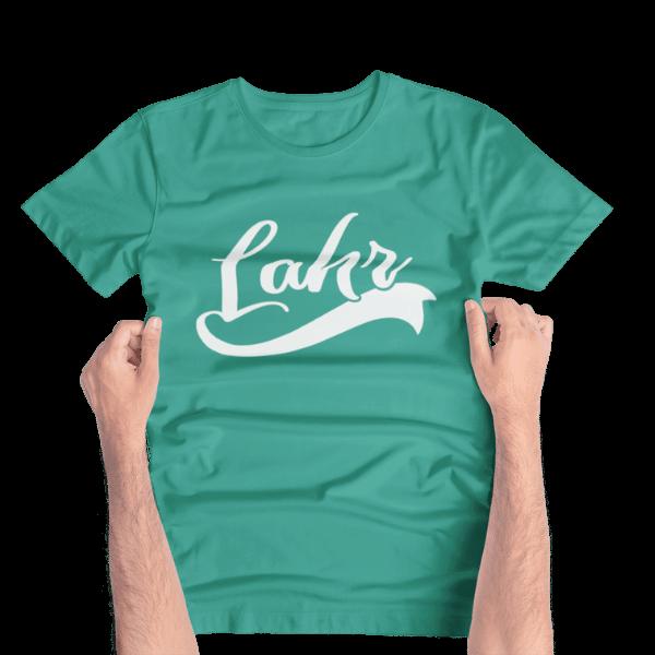 hellgruenes t-shirt mit aufdruck lahr