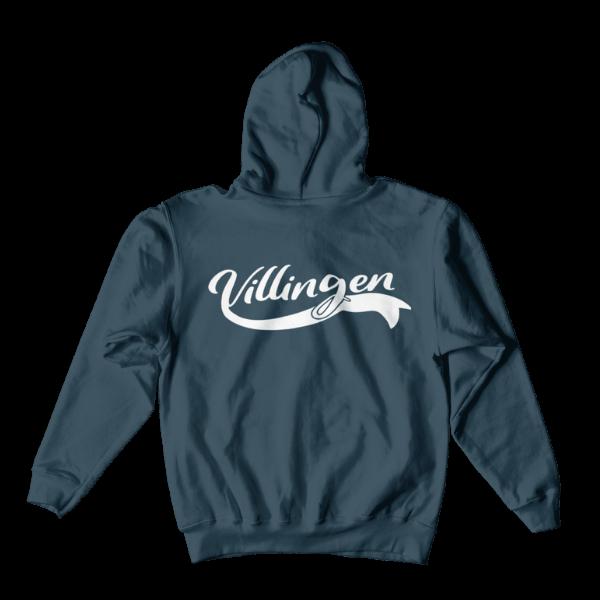 blauer hoodie mit villingen design