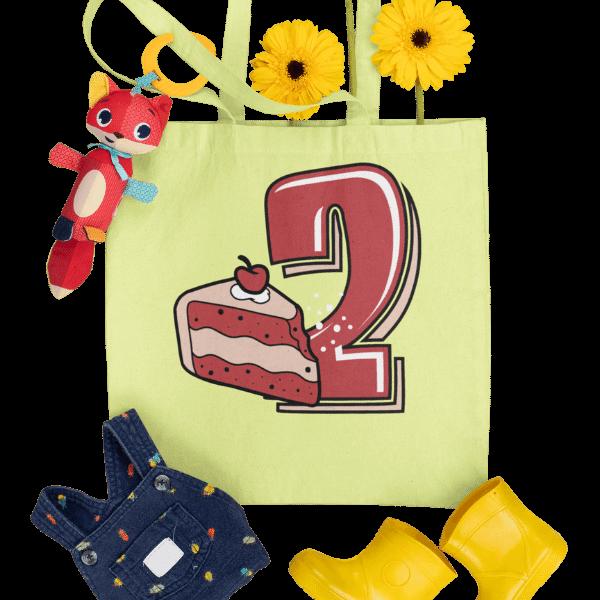 gelbe tasche mit 2. geburtstag schwarzwald design und accessoires
