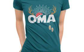Schwarzwald-Oma-T-Shirt-Motiv