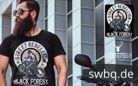 Schwarzwald t-shirt gegen das sonntagsfahrverbot fuer motorraeder - black forest street rebellion auf der Schwarzwald Hochstraße