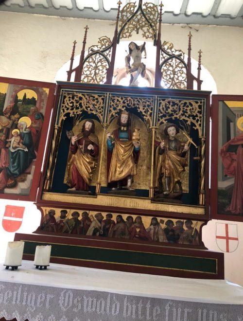 Altar Sankt Oswald Kapelle Hoellental Schwarzwald