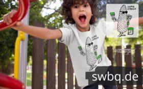 schwarzwald kinder t-shirt design Schwarzwald Tannenzapfen mit pinsel streicht - zapfenstreich