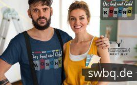 paerchen mann mit blauem t-shirt mit alemannisch fuer anfaenger teil 0815 design