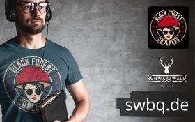 Cooles-schwarzwald t-shirt - black forest coolness-bollenhut und sonnenbrille