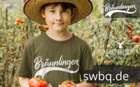 junge mit tomaten hut und gruenem tshirt mit aufdruck braeunlingen