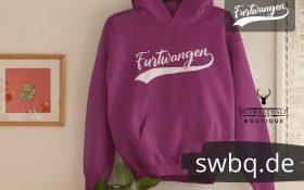 lila hoodie mit furtwangen design