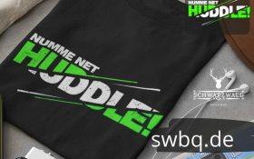 schwarzer gefalteter hoodie mit badisch net huddle design