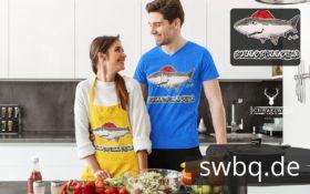 schwarzwald maenner t-shirt - hai mit bollenhut
