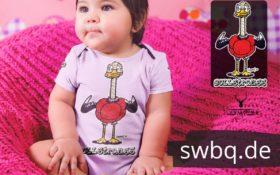 schwarzwald baby body - strauss mit bollenhut