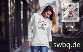 schwarzwald frauen hoodie - black forest kompass