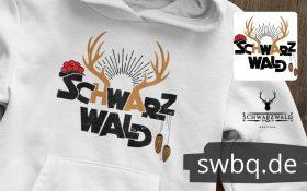 Schwarzwald andenken hoodie - bollenhut kuckucksuhr und hirsch