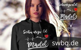 schwarzwald frauen hoodie - schwarzwald mädel