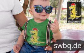 schwarzwald kinder t-shirt - kaenguru mit bollenhut