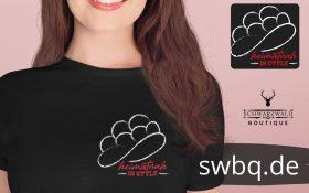 Modernes schwarzwald bollenhut t-shirt - heimatnah heimat schwarzwald