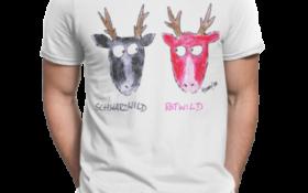schwarzwald männer t-shirt - rotwild schwarzwild