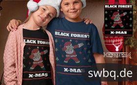 schwarzwald ugly christmas design mit einem dubbing nikolaus im weihnachtsmann kostuem das wir black forest santa nennen